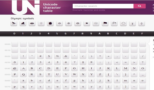 Best web apps for aspiring web developers and designers for Table unicode