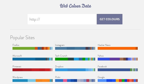 Web Color Data