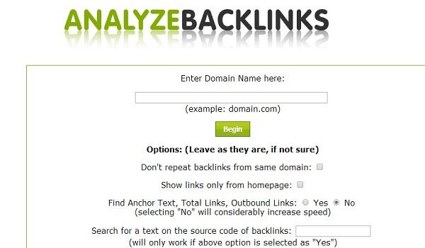 Analyzebacklinks