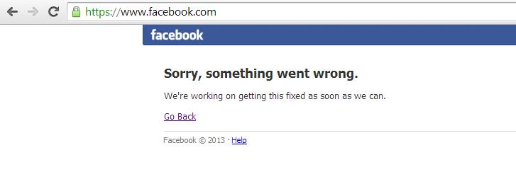 Facebook Down !!