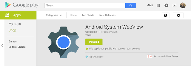 Android WebView Beta