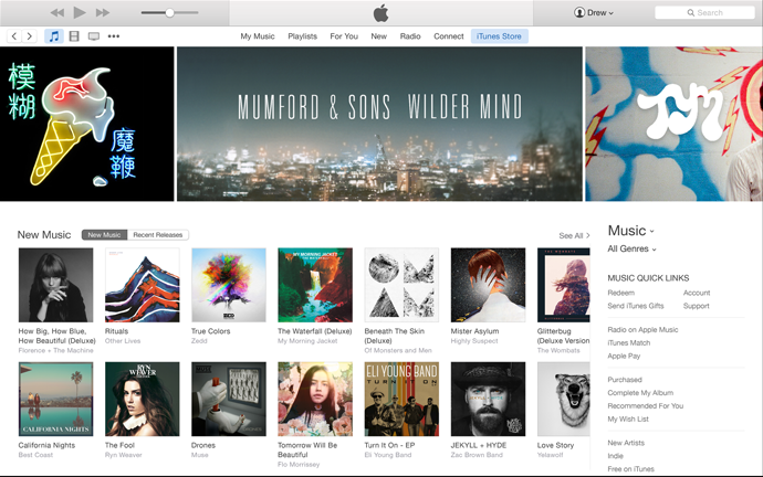 iTunes 12.2 for OS X Yosemite