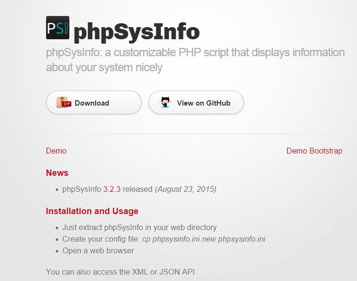 PhpSYSInfo