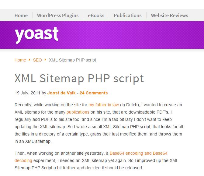 XML Sitemap PHP Script