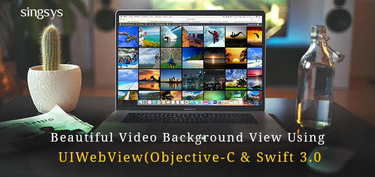 UI Web view video  background