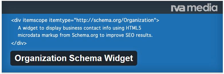 Organization Schema Widget