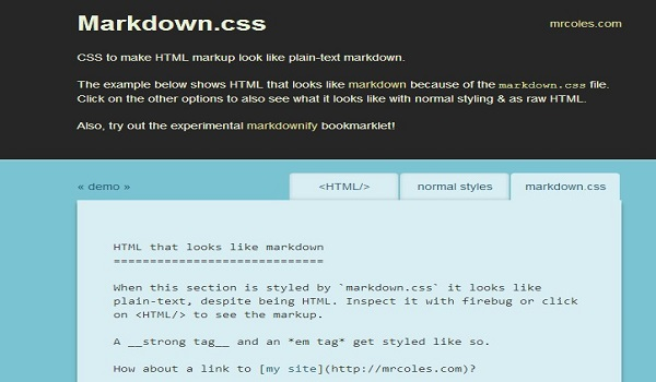Markdowncss