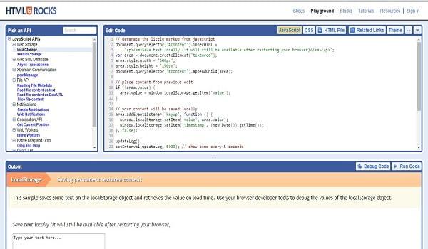 HTML5 Playground