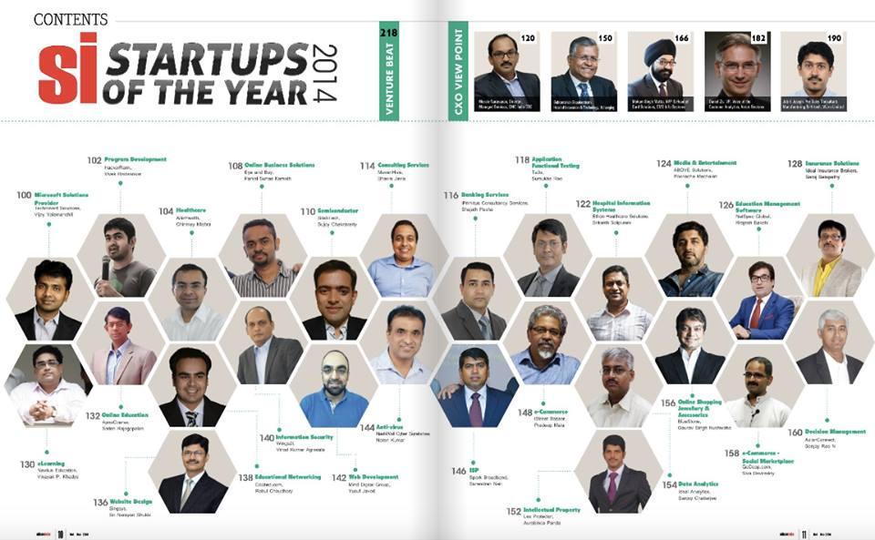 SINGSYS Named as STARTUP of YEAR 2014