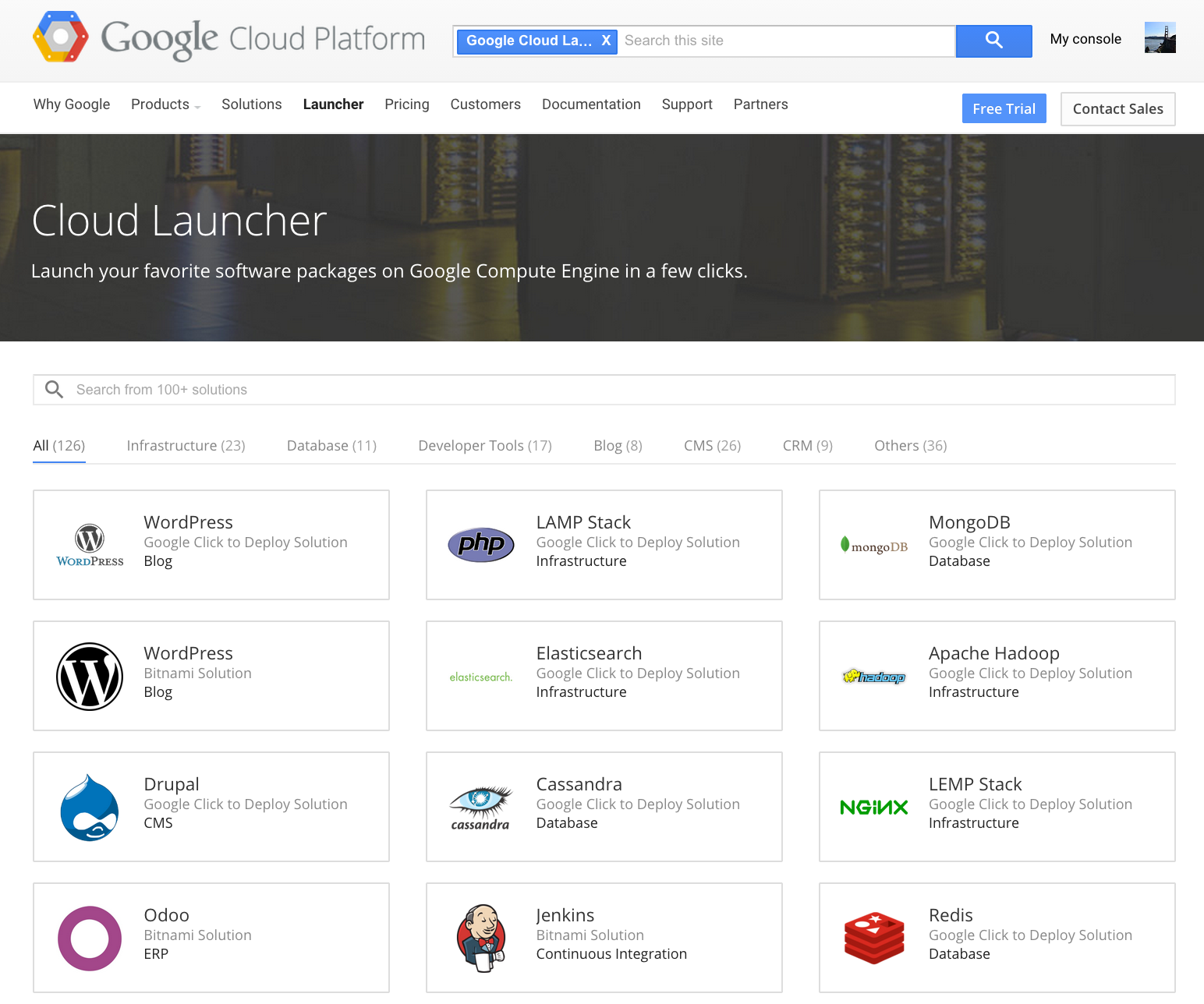 Google Cloud Launcher