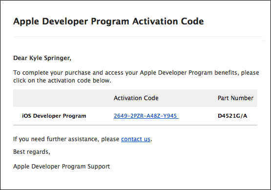 Apple Developer Account