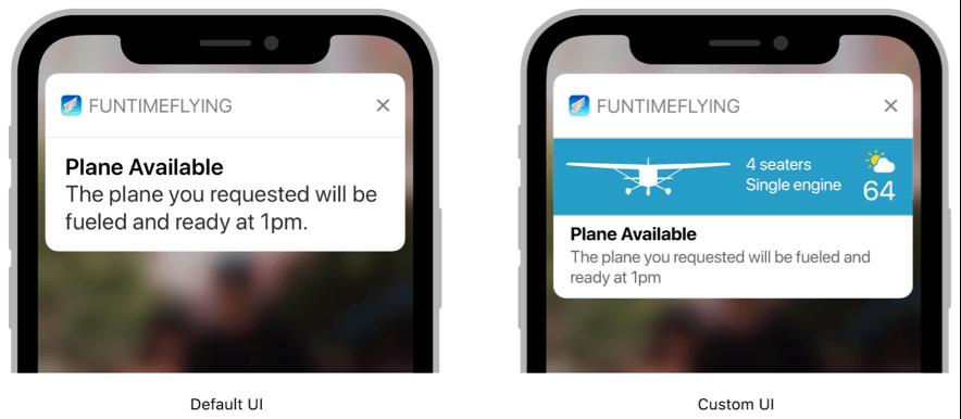 iOS application notification
