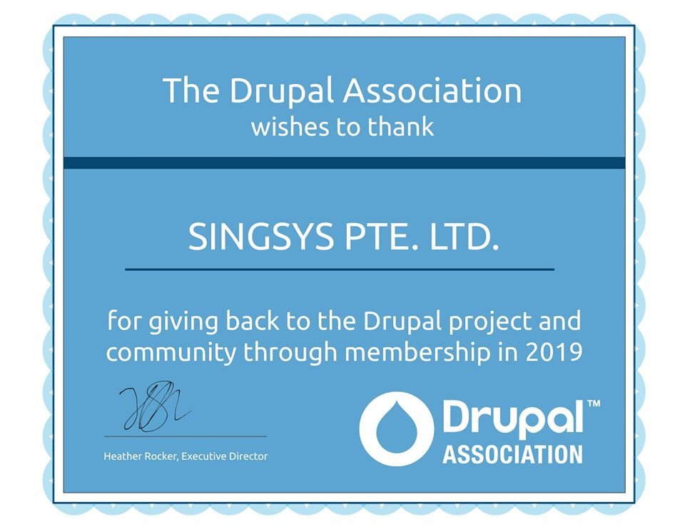 Drupal-Association-Singsys